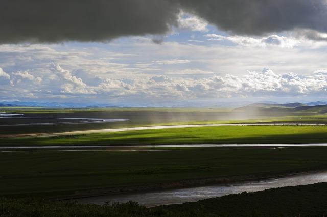 landscape_river_rain_sun